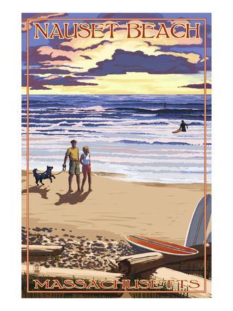 Nauset Beach, Massachusetts - Sunset Scene