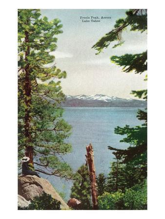 Lake Tahoe, California - Freels Peak View from Lake