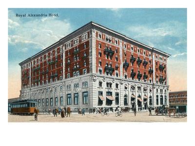 Winnipeg, Manitoba - Royal Alexandria Hotel Exterior