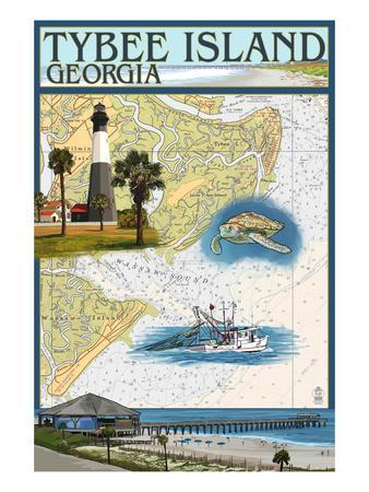 Tybee Island, Georgia - Nautical Chart