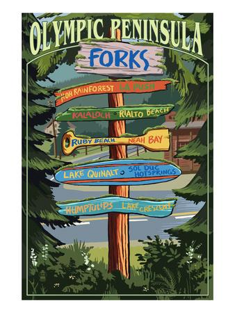 Forks, Washington - Sign Destinations