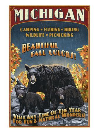 Michigan - Black Bears and Fall Colors