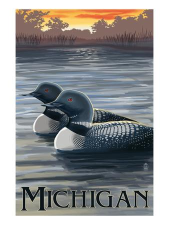 Michigan - Loons Scene
