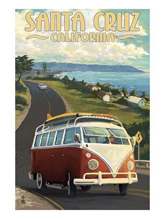 Santa Cruz, California - VW Van