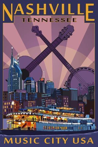 Nashville cult movie poster print