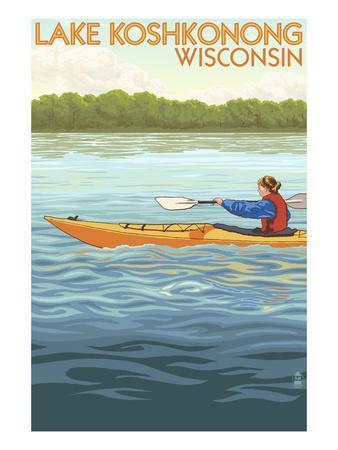 Scenes on Lake Koshkonong Wisconsin Postcard
