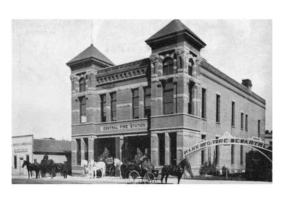 Mankato, Minnesota - Exterior View of Central Fire Station