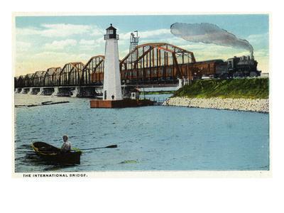 Sault Ste. Marie, Michigan - International Bridge Scene