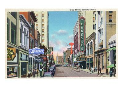 Knoxville, Tennessee - Northern View Up Gay Street