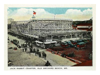 Old Orchard Beach, Maine - Jack Rabbit Rollercoaster