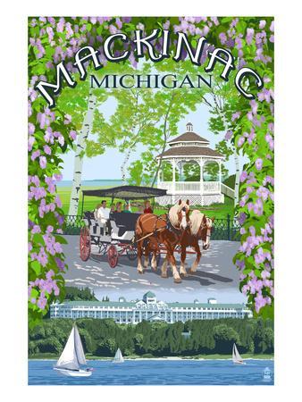 Mackinac, Michigan - Montage Scenes