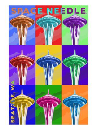 Space Needle Pop Art - Seattle, WA