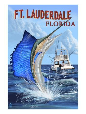 Ft. Lauderdale, Florida - Sailfish Scene