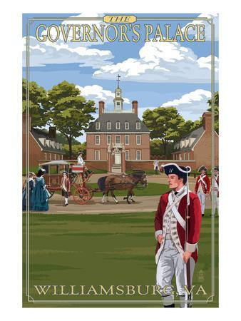 Williamsburg, Virginia - Governor's Palace in Spring