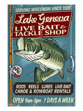 Lake Geneva, Wisconsin - Tackle Shop Bass