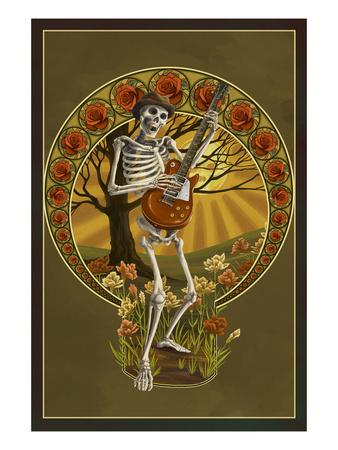 Skeleton and Guitar