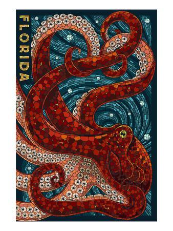 Octopus Paper Mosaic - Florida