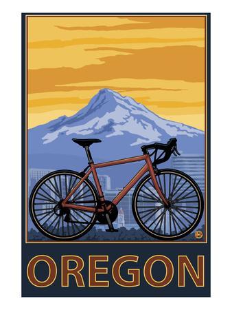 Mountain Bike and Mt. Hood - Oregon