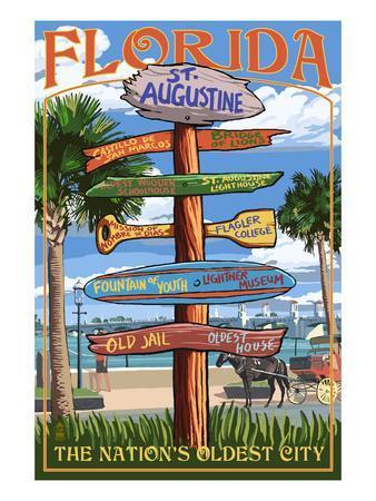 St. Augustine, Florida - Sign Destinations