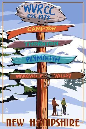WVRCC, New Hampshire - Snow Destination Signpost