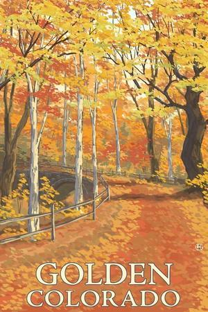 Golden, Colorado - Fall Colors Scene