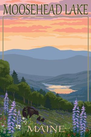 Moosehead Lake, Maine - Bears and Spring Flowers