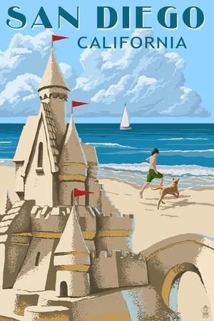 San Diego, California - Sandcastle