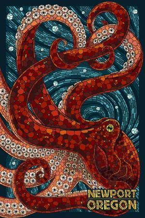 Newport, Oregon - Octopus Mosaic
