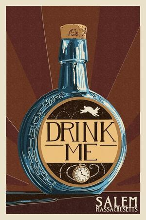 Salem, Massachusetts - Drink Me Bottle