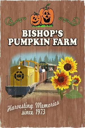 Wheatland, California - Bishop's Pumpkin Farm - Vintage Sign