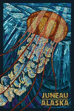 Juneau, Alaska - Jellyfish Mosaic