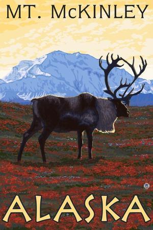 Mt. McKinley, Alaska - Caribou