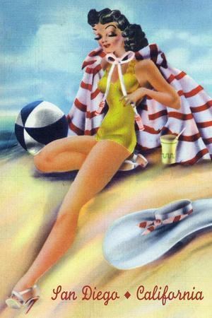 San Diego, California - Coquette on the Beach