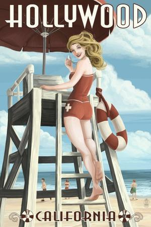 Hollywood, California - Lifeguard Pinup