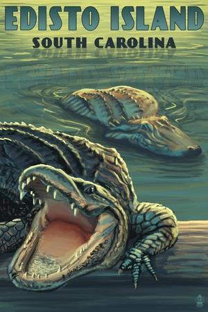 Edisto Island, South Carolina - Alligator