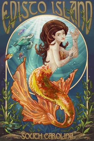Edisto Island, South Carolina - Mermaid