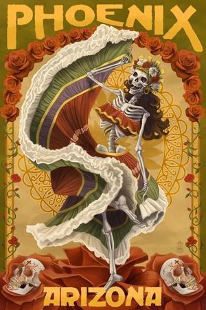 Phoenix, Arizona - Day of the Dead Dancing Skeleton