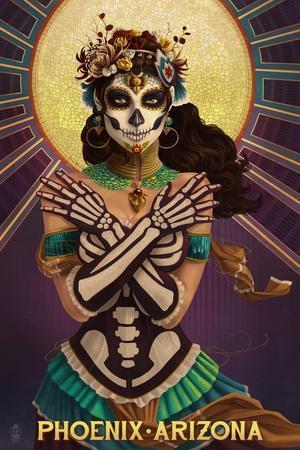 Phoenix, Arizona - Day of the Dead Crossbones