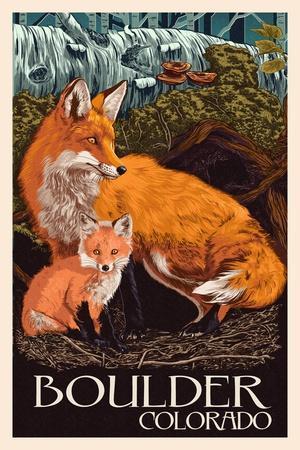 Boulder, Colorado - Fox and Kit