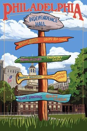 Philadelphia, Pennsylvania - Sign Destinations