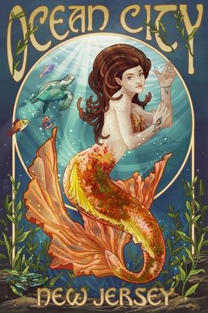 Ocean City, New Jersey - Mermaid