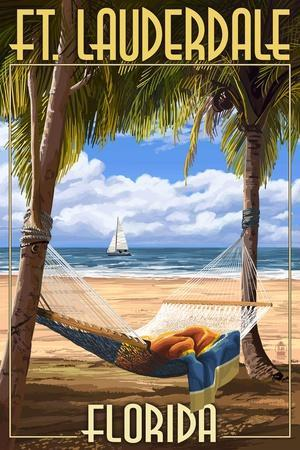 Ft. Lauderdale, Florida - Palms and Hammock