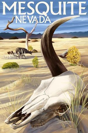 Cow Skull - Mesquite, Nevada