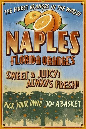 Naples, Florida - Orange Grove Vintage Sign