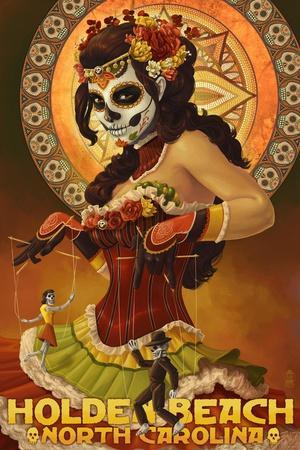 Holden Beach, North Carolina - Day of the Dead Marionettes