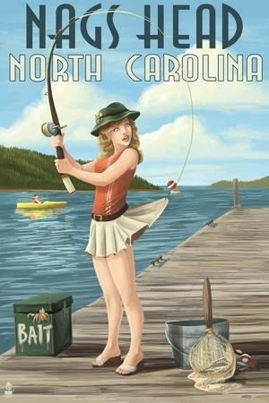 Nags Head, North Carolina - Fishing Pinup