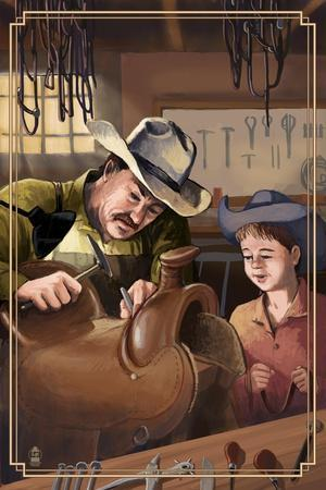 Cowboy Saddle Maker