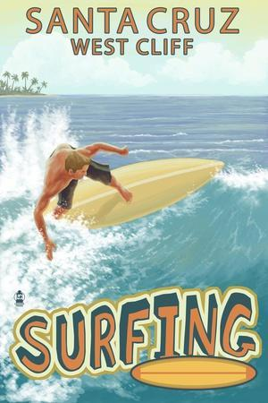 Santa Cruz, California - West Cliff Surfer Scene