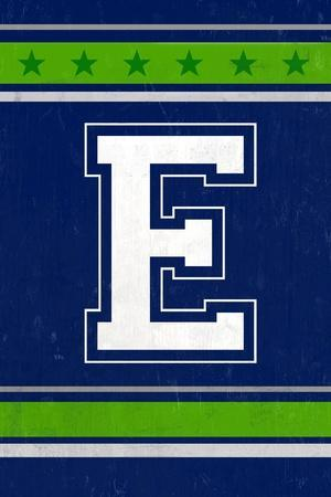 Monogram - Game Day - Blue and Green - E