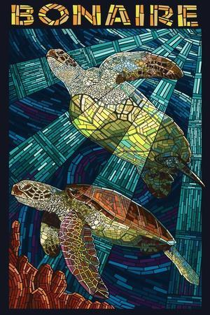 Bonaire, Dutch Caribbean - Sea Turtle Mosaic